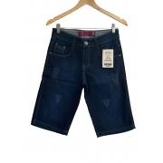 Bermuda masculina jeans escura