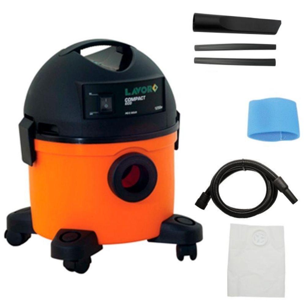 Aspirador de Pó e Água 12L Compact Eco 1250W Lavor