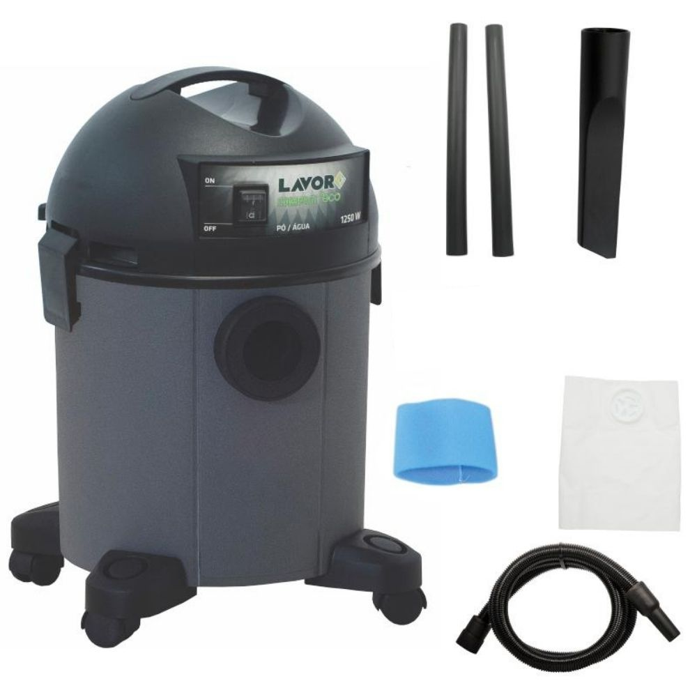 Aspirador de Pó e Água 22L Compact Cinza 1250W Lavor