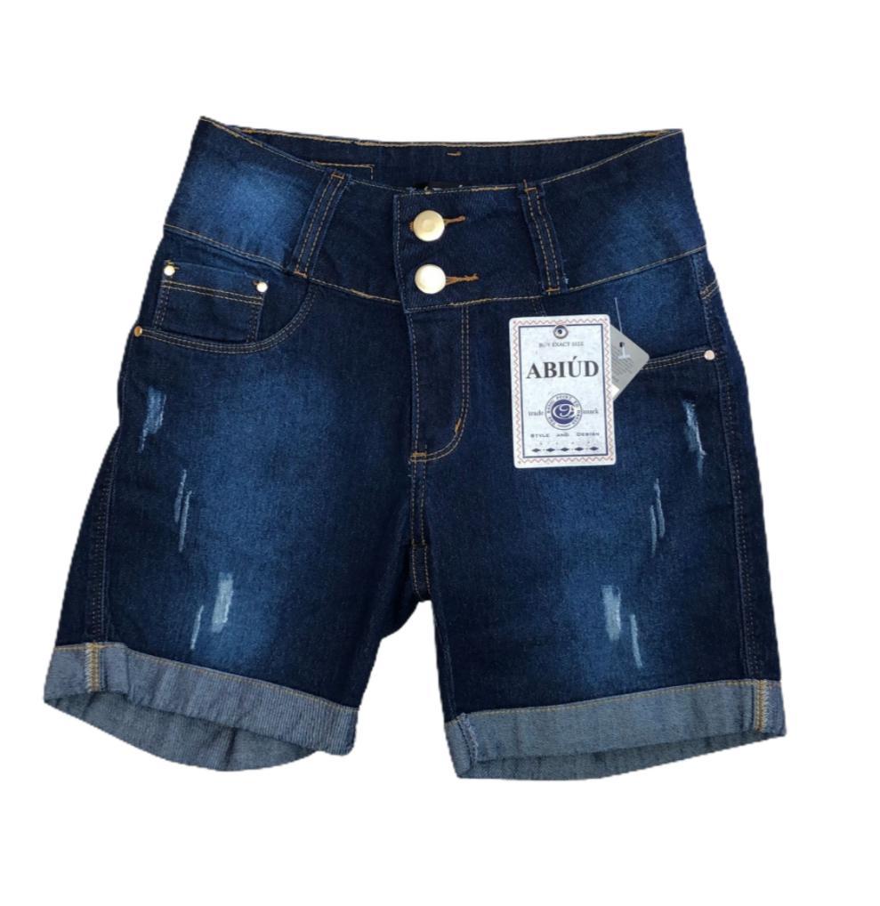 Bermuda jeans escura