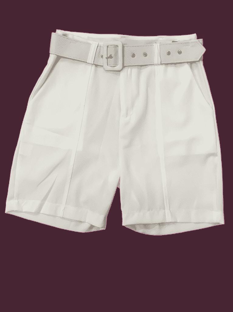 Bermuda tecido com cinto