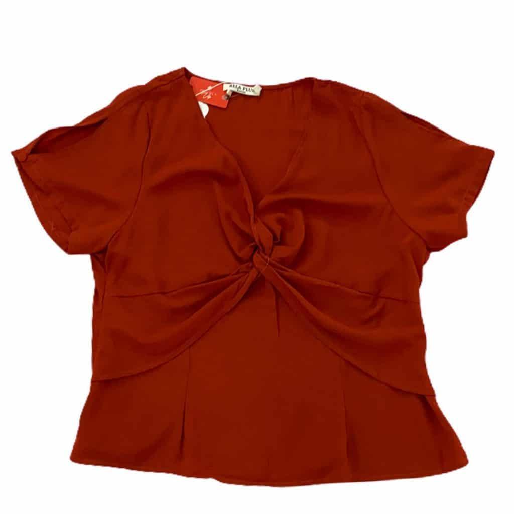 Blusa com camada e zíper na lateral