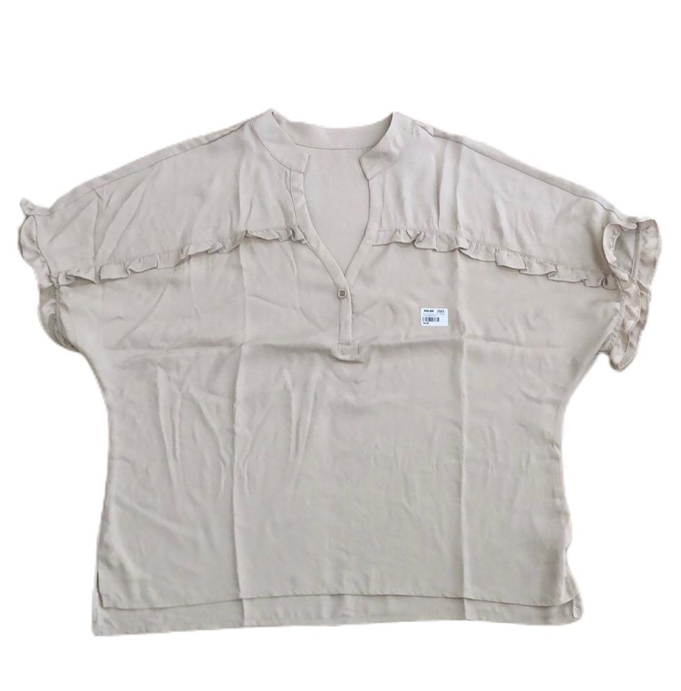 Blusa segall liso ombro mng babadinho