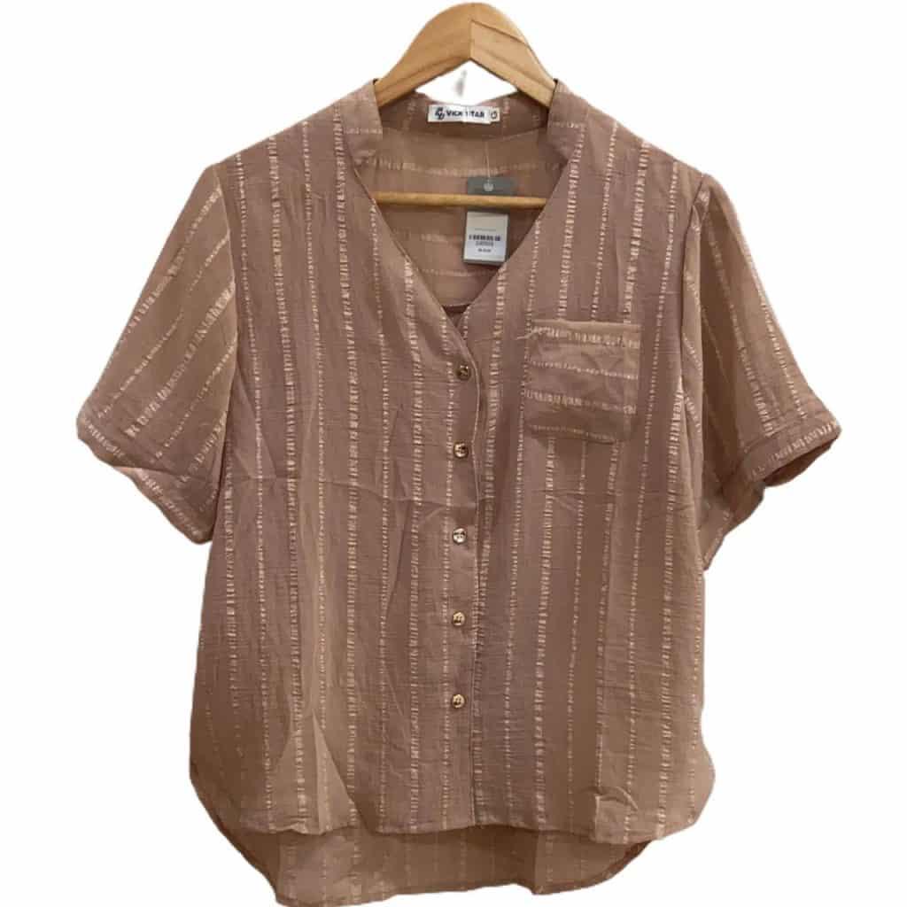 Blusa tecido com bolso