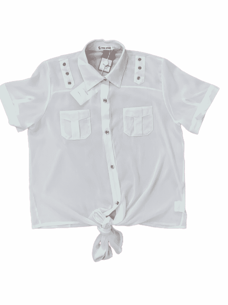 Blusa tecido de amarrar manga curta