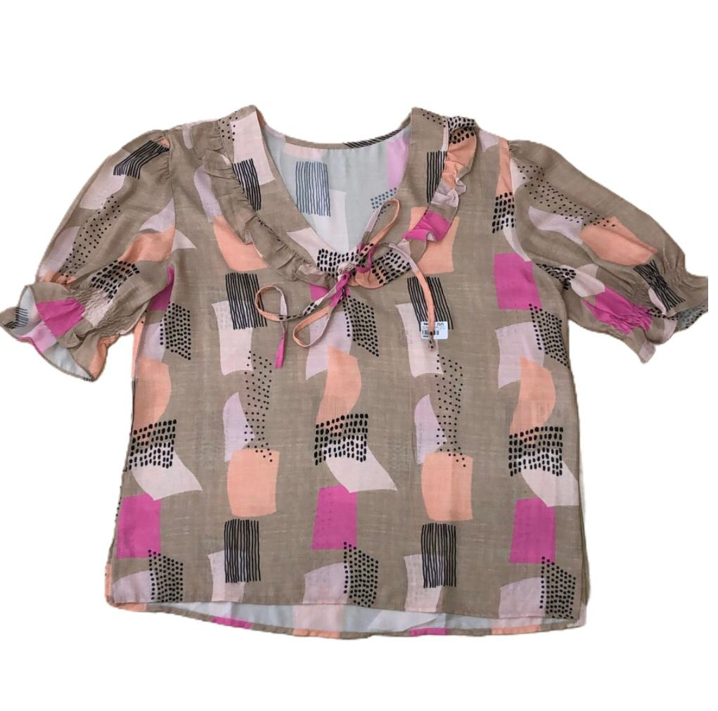 Blusa wool dobby digital dec  v babadinho com tira