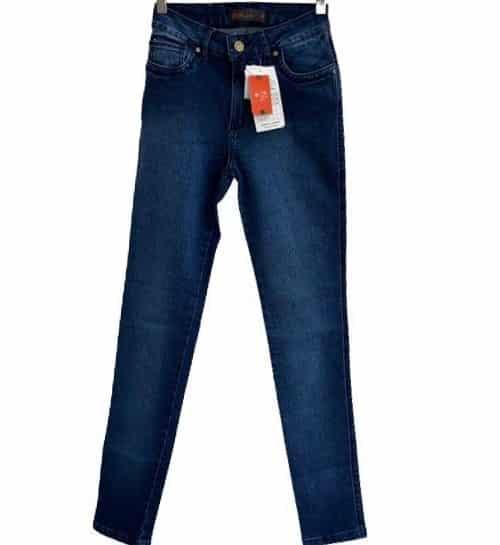 Calça feminina skn c/alto sem estampa azul