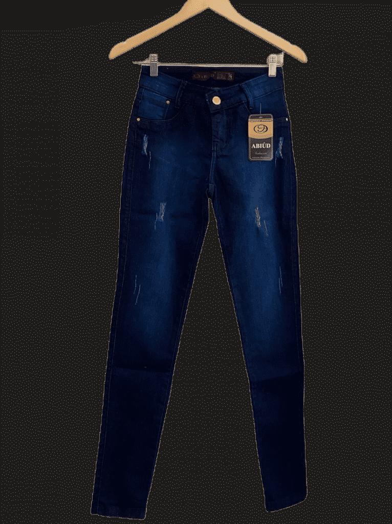 Calça jeans escura feminina
