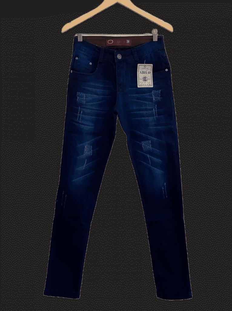 Calça jeans escura masculina