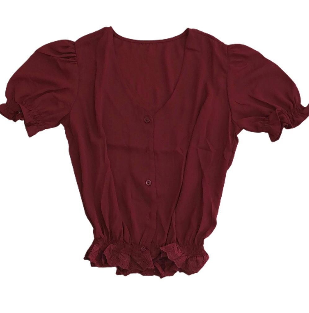 Camisa dobby liso mng lastex cintura lasie