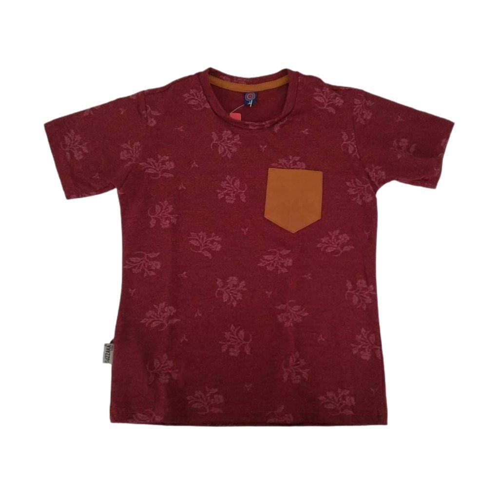 Camiseta algodão com bolso
