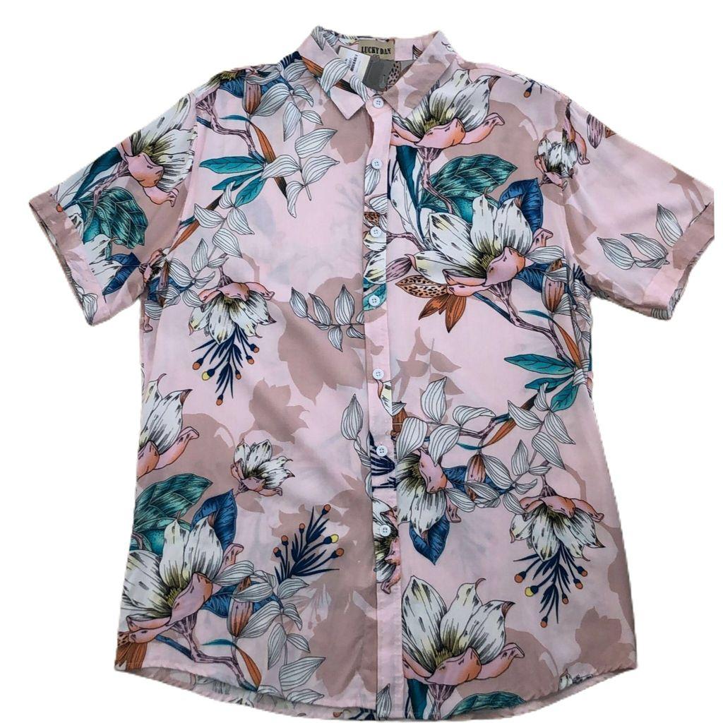 Camiseta de viscose estampada