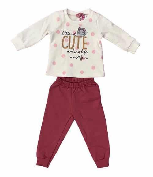 Conjunto blusão + calça moletom de bebê