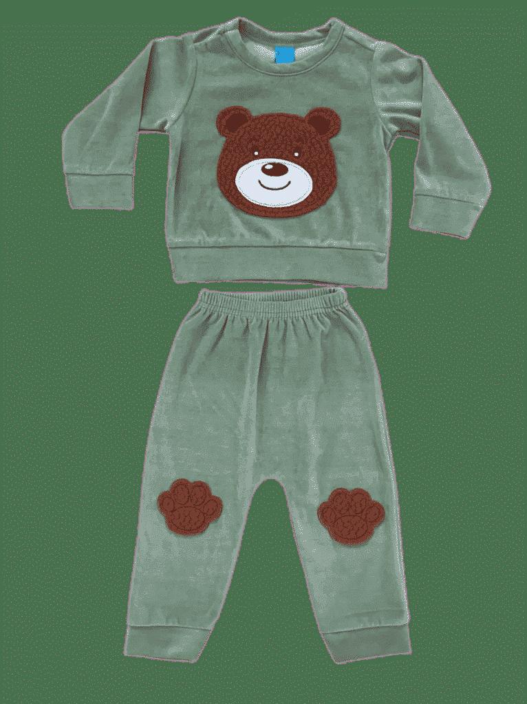 Conjunto blusão e calça