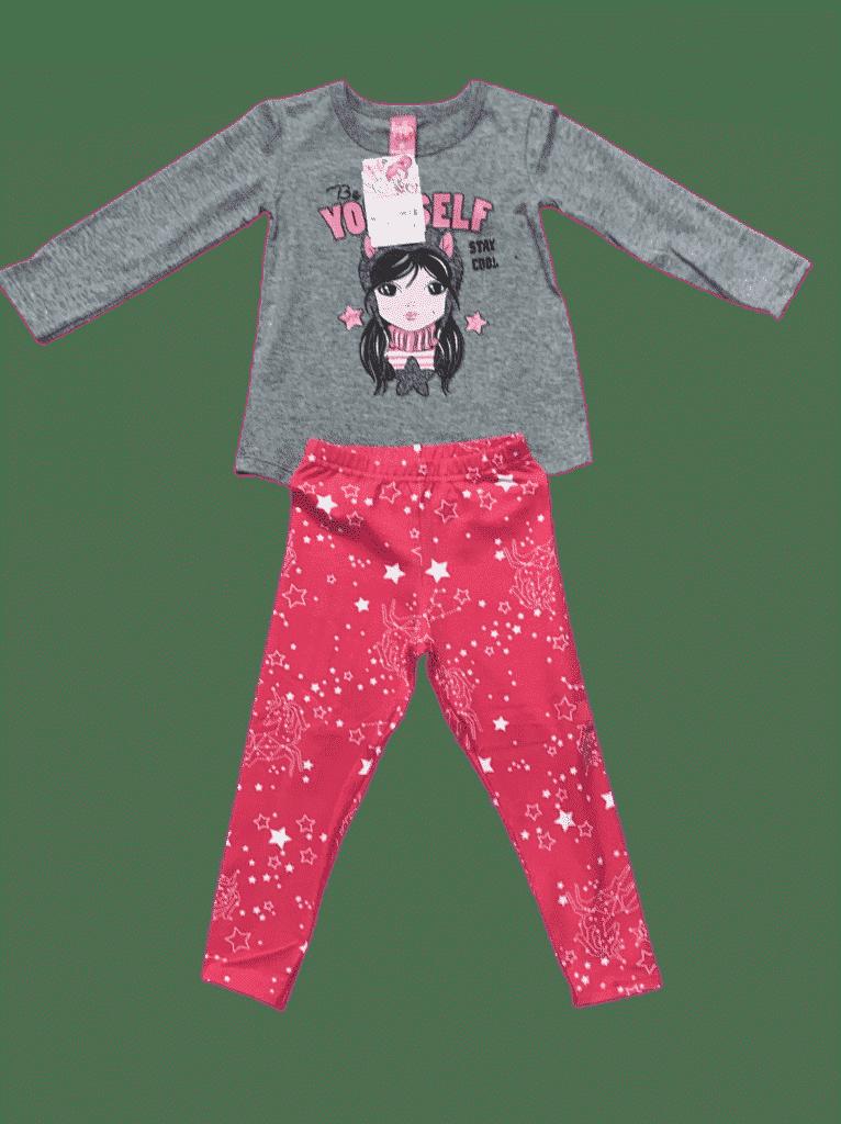Conjunto  de blusa manga longa com calça legging