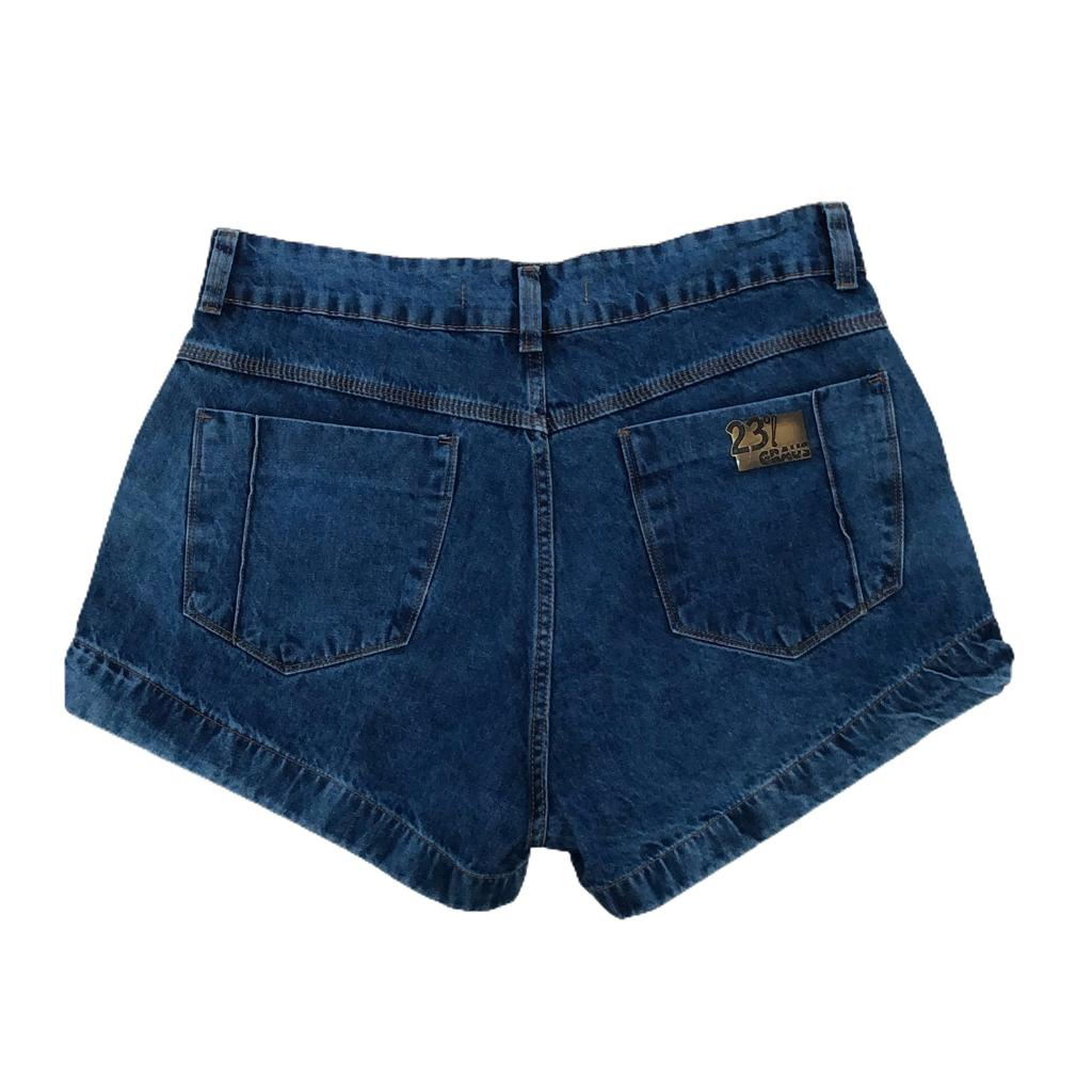 Shorts jeans com rasgos