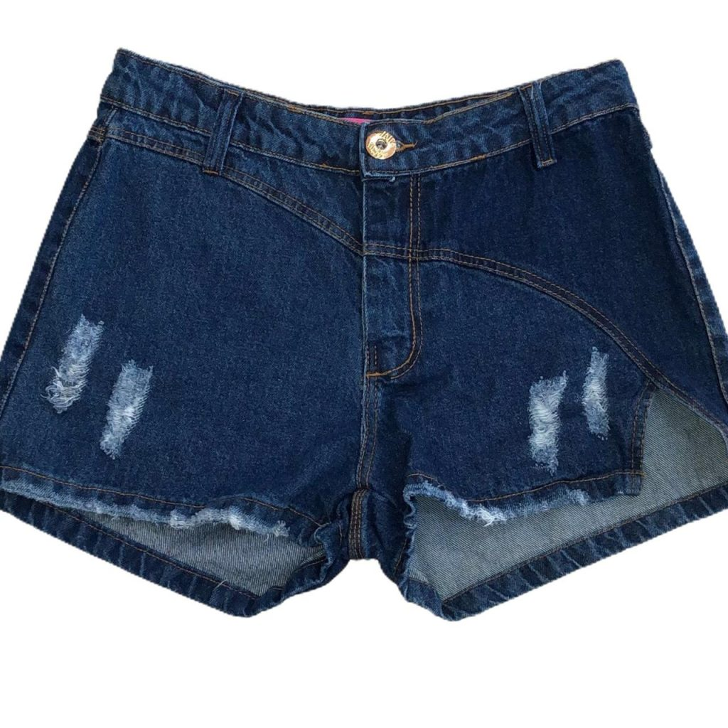 Shorts jeans escuro