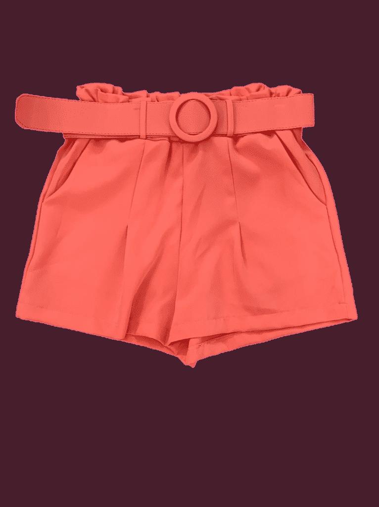 Shorts social com cinto encapado