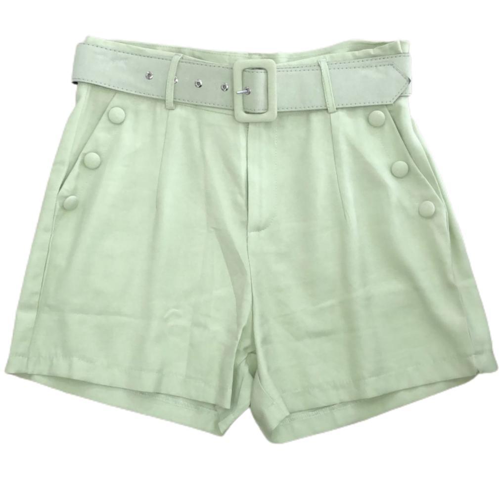 Shorts tecido com cinto