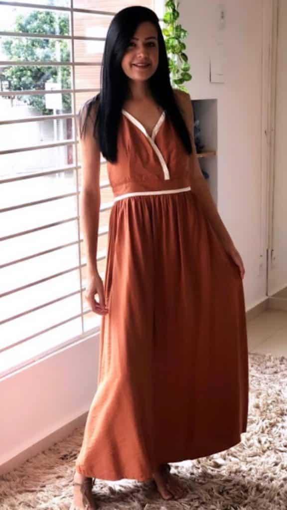 Vestido Longo Decotado