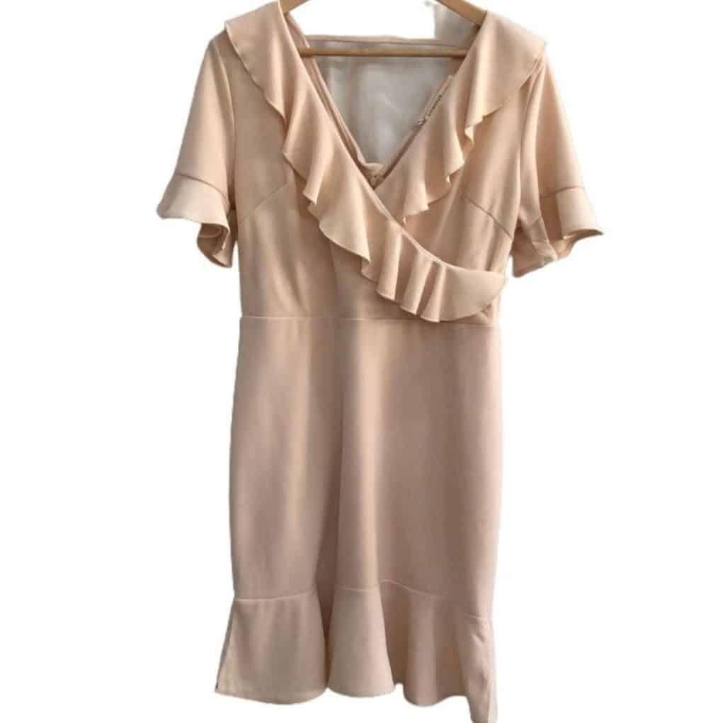 Vestido malha transpassado