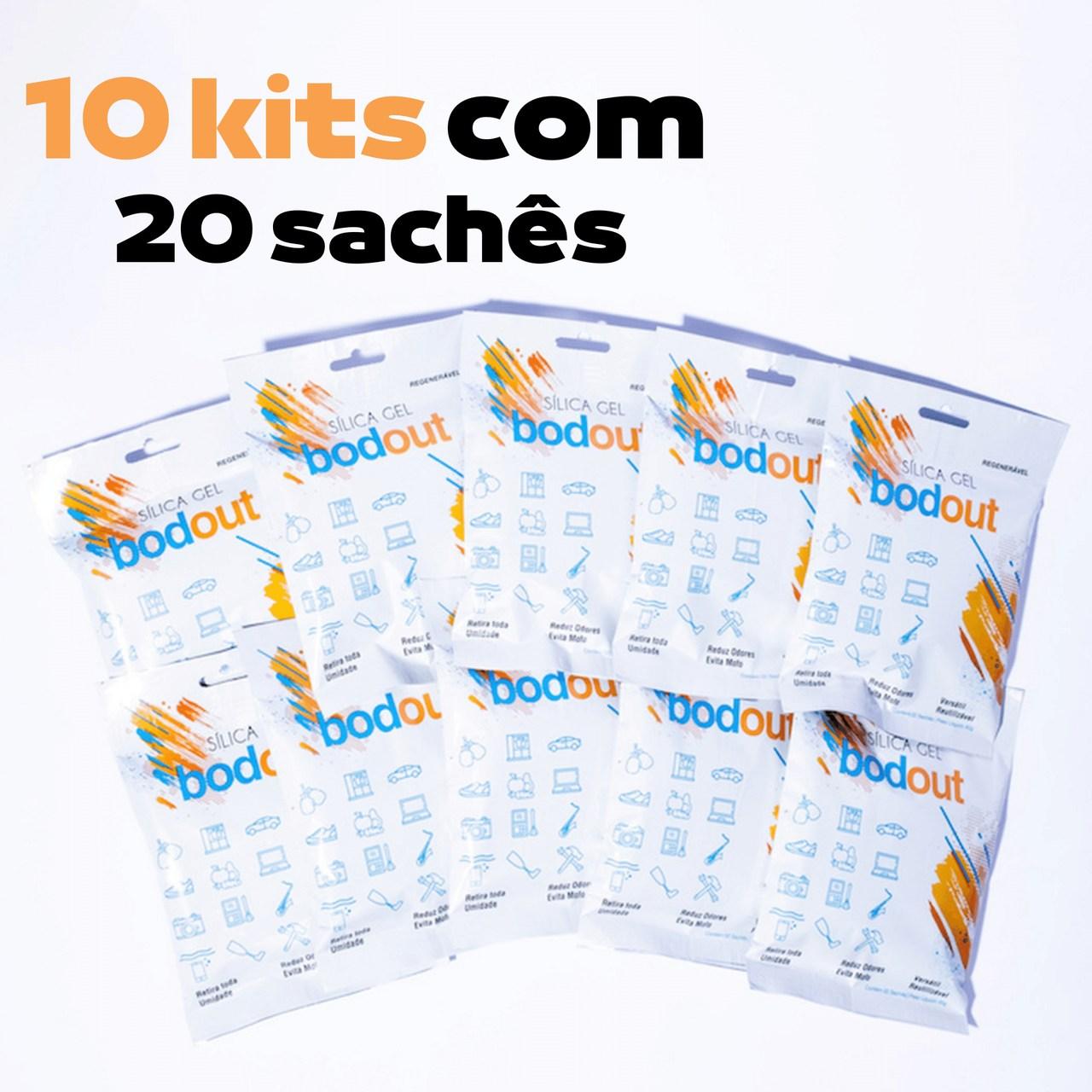 10 Kits com 20 sachês de Sílica gel bodout