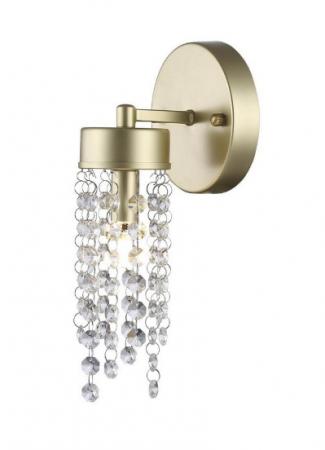 Arandela Cristal Light 1XG9 Alumínio Dourado - (89631130) - BASE I