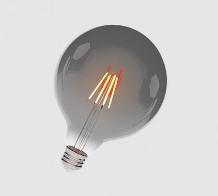 Balloon Led Filamento Fumê 4W Luz Âmbar 127/220V E27