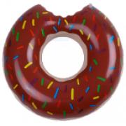 Boia de Piscina Inflável Divertida Donut Gigante Rosquinha Marrom