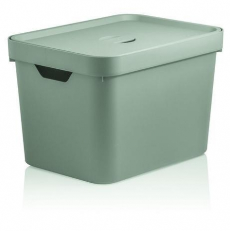 Caixa Organizadora Cube 18L com tampa Verde Claro