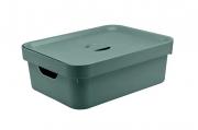 Caixa Organizadora Cube com Tampa Verde Eucalipto
