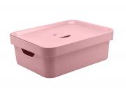Caixa Organizadora Cube M com Tampa Rosa Quartz