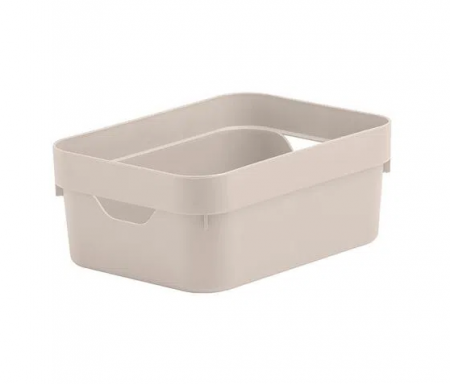 Caixa Organizadora Cube Mini Bege