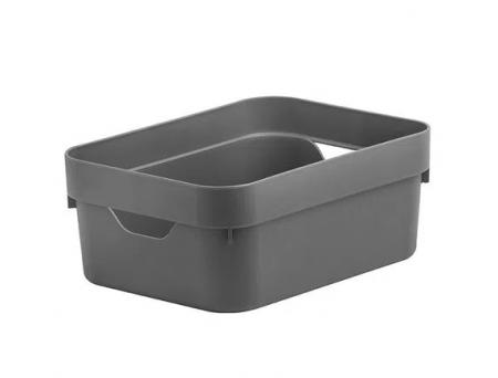Caixa Organizadora Cube Mini Chumbo