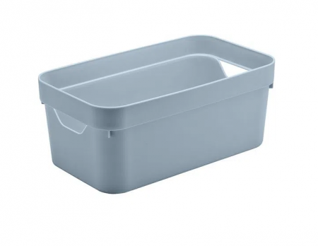 Caixa Organizadora Cube P Azul Glacial