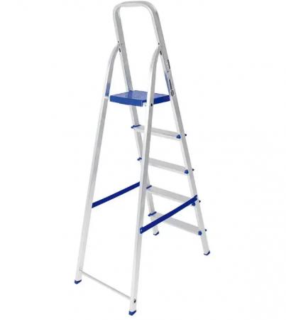 Escada Alumínio 5 Degraus  - Uso Domiciliar