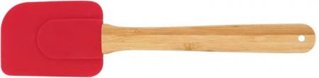 Espatula Reta Silicone e Bamboo