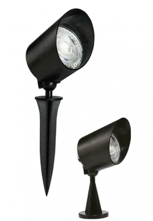 Espeto Spot Clean ABS Led IP65 5W Luz Verde - Preto - (21055001)