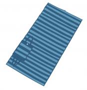 Esteira de Praia Dobrável em Polipropileno Azul