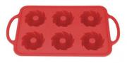 Forma Silicone 6 Mini Bolos Vermelho
