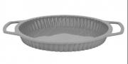 Forma Silicone Aramada para Torta Cinza