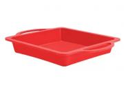 Forma Silicone Aramada Quadrada Vermelha
