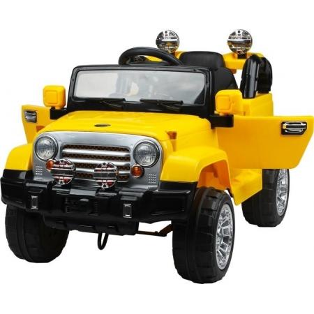 Jipe Elétrico 12V Trilha Amarelo com controle