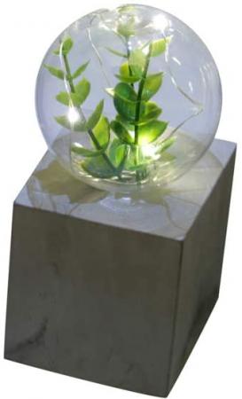 Luminária Concreto Led and Plants Quadrada Cinza 9,5X8X15,5cm