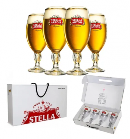 Maleta com 4 Taças Stella 250ML