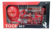 Oficina criativa kit de ferramentas com capacete
