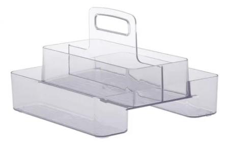Organizador Diamond com Alça Duplo 24X24X18CM Cristal