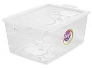 Organizador Plástico Cristal com Trava 30L