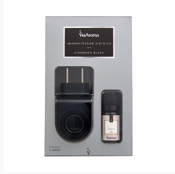 Aromatizador Standard Black com Essência Jasmim Branco 10ml