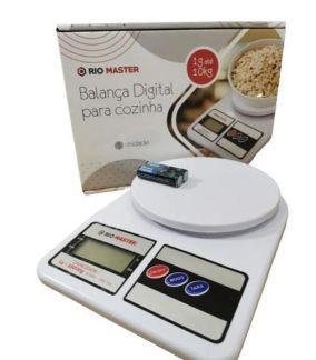 Balança de Cozinha 10Kg Digital Rio Master